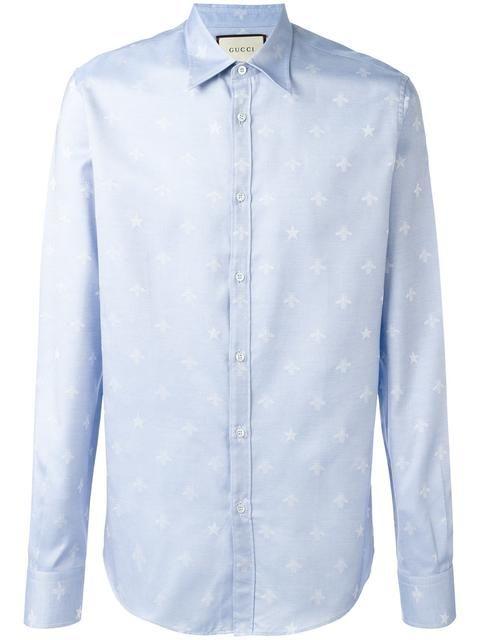 GUCCI bee jacquard Duke shirt. #gucci #cloth #shirt