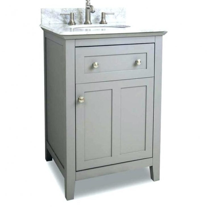 20 Inch Wide Bathroom Vanity With Sink In 2020 Grey Bathroom Vanity Bathroom Sink Vanity Small Bathroom Vanities