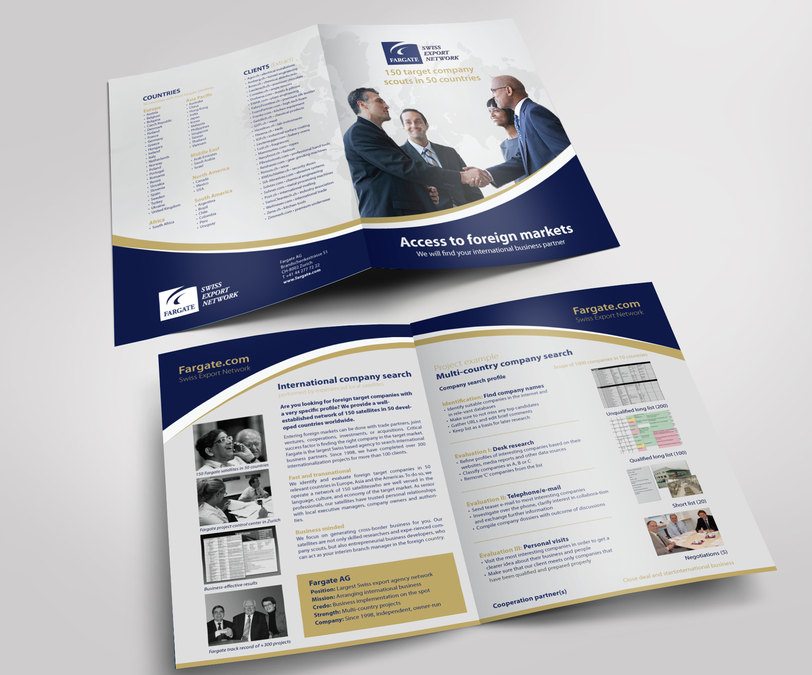 create a 4 page brochure layout