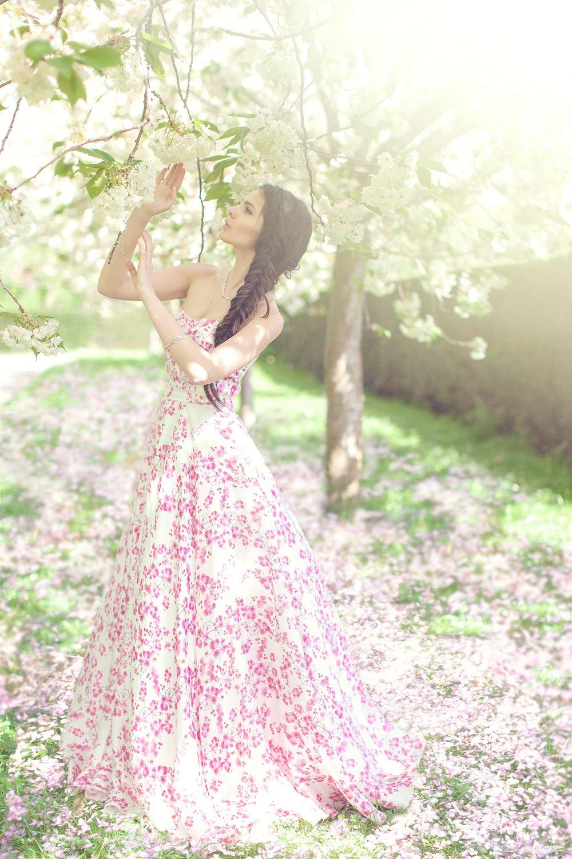 Crystal Gardens Cherry blossom dress, Wedding dress