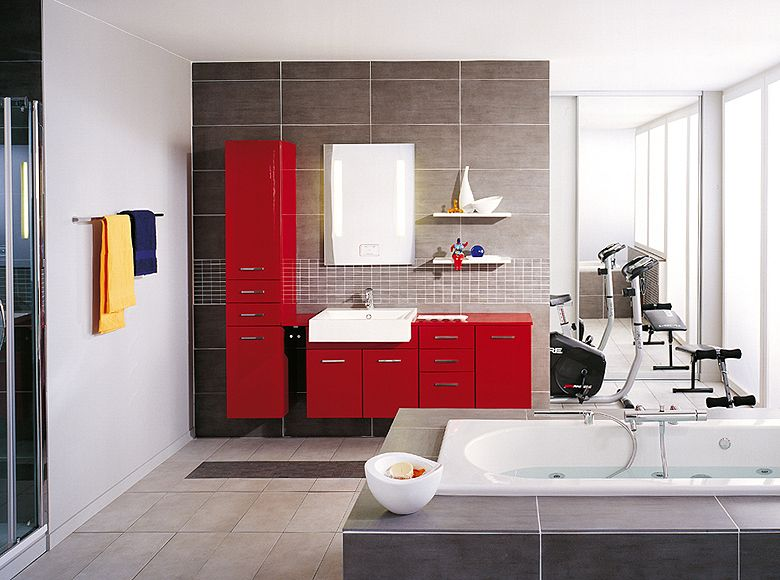 The Awesome Web designer bathroom open plan living parquet bamboo tray