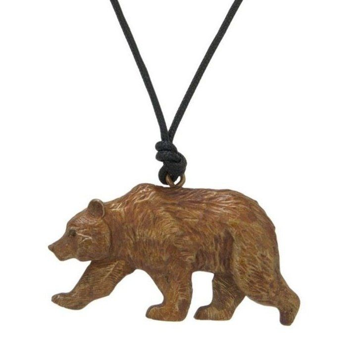 3931b1412 Grizzly Bear Pendant Necklace | Cavin Richie Jewelry | DMOKB34PEND