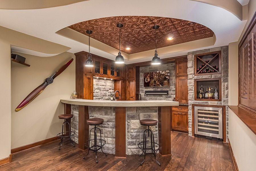 Basement Wet Bar Basement design, Bars for home, Man