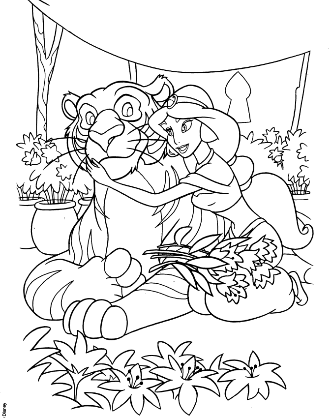 Aladdin And Jasmine Colouring Pages Spring Edition Disney Coloring Pages Disney Princess Coloring Pages Princess Coloring Pages