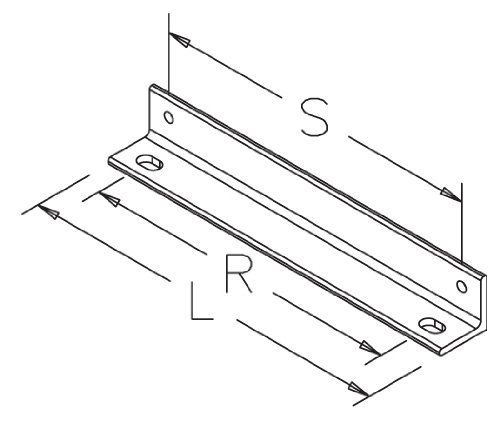 LWASK12BLK: Hoffman Wall Angle Support Bracket, 14L, Black