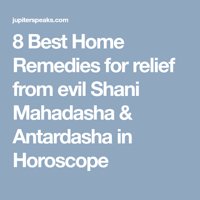 8 Effective Home Remedies for Saturn Mahadasha | Vedic
