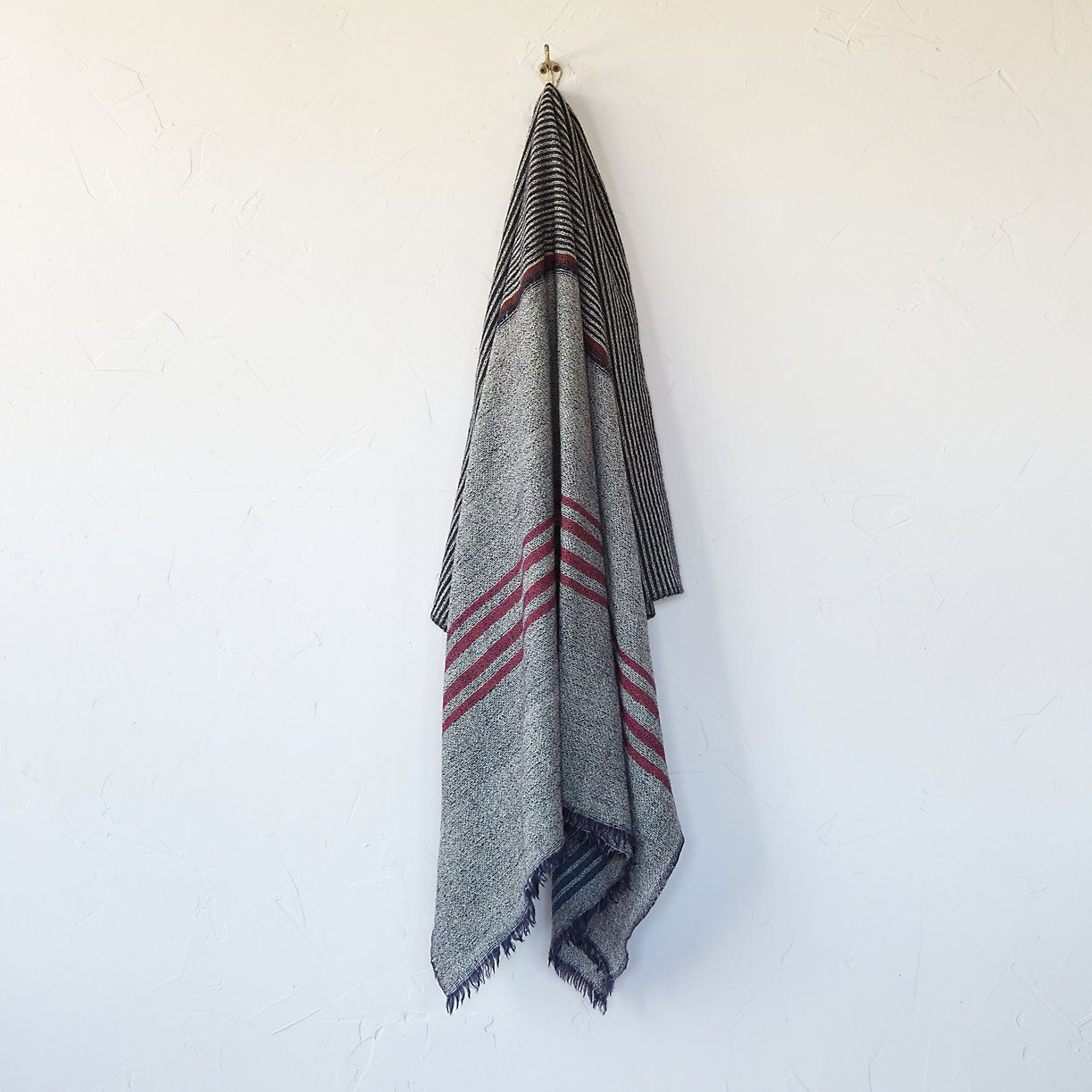 Open Weave Wool Throw