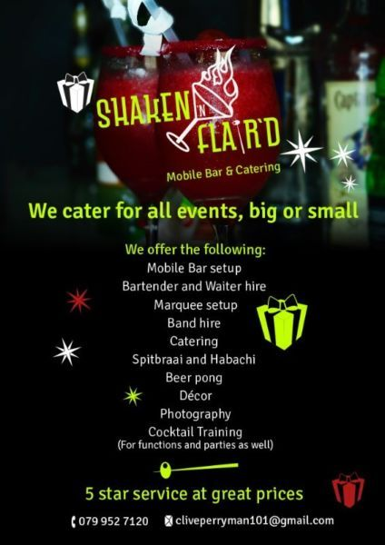 Shaken N Flair D Mobile And Catering Company 5 Star Service At