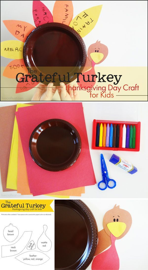 The Grateful Turkey Thanksgiving Day Craft for