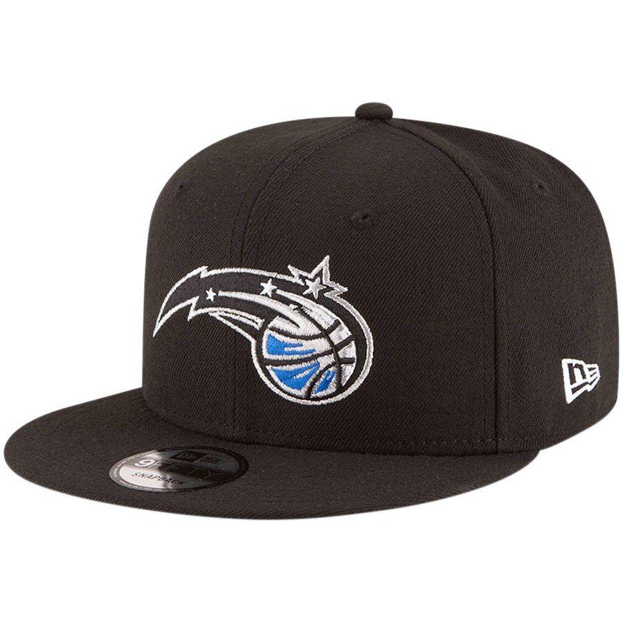 7963062aff6 Men s Orlando Magic New Era Black Official Team Color 9FIFTY Adjustable  Snapback Hat