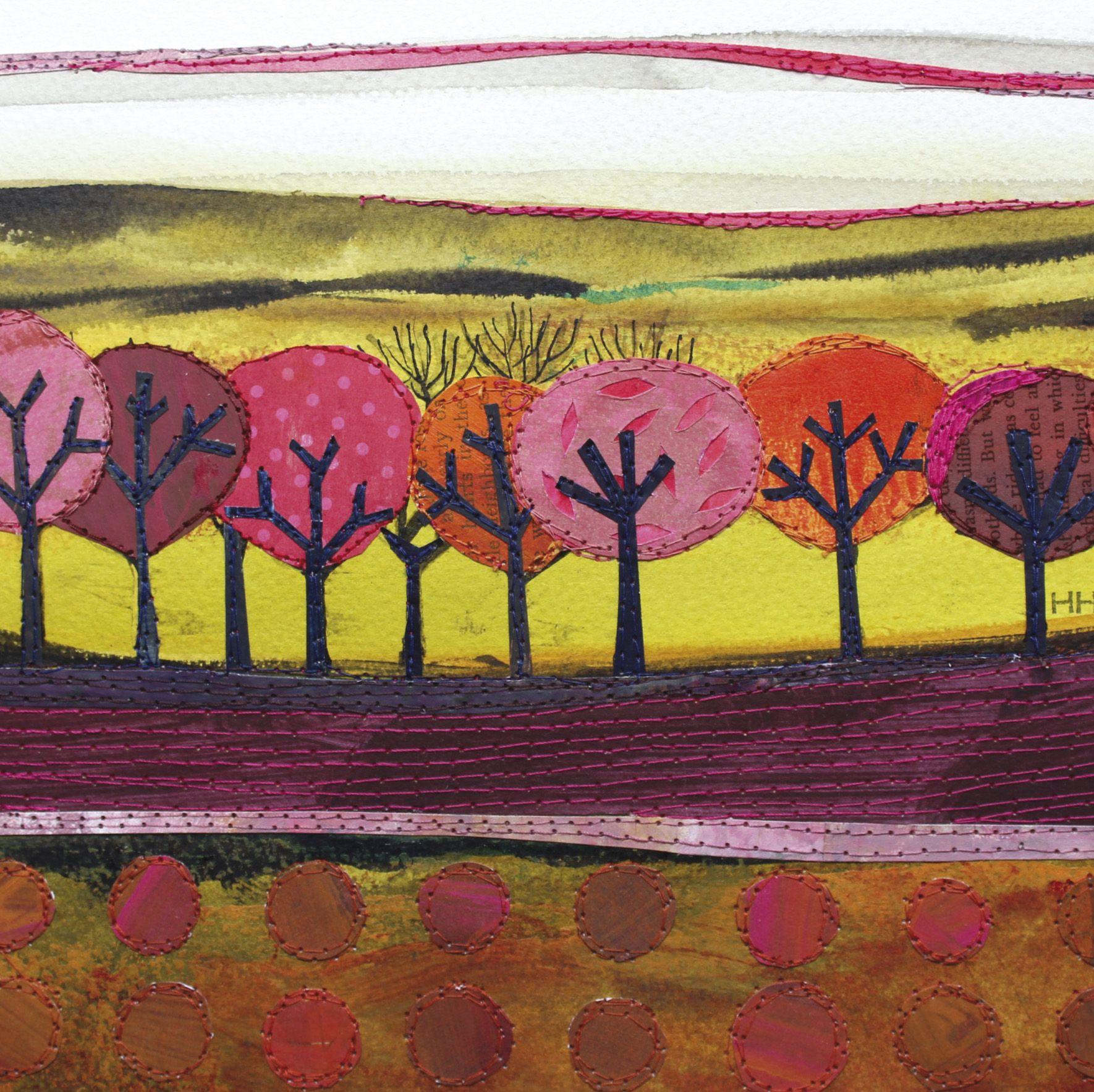 Choir Of Trees By Mixed Media Artist Helen Hallows Blank Art Cards