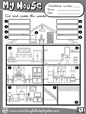 my house picture dictionary b w version esl pinterest picture dictionary house and. Black Bedroom Furniture Sets. Home Design Ideas