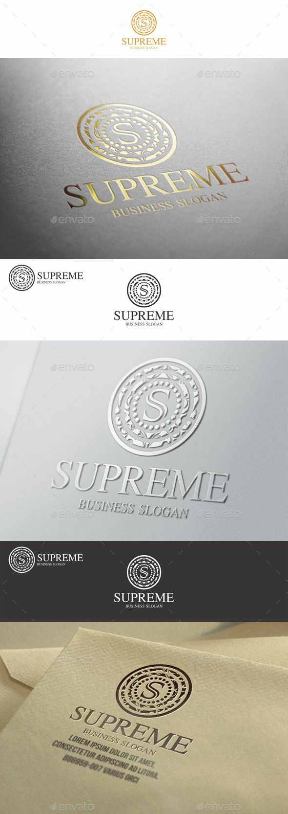 Supreme S Letter Elegant Boutique Logo Design Template
