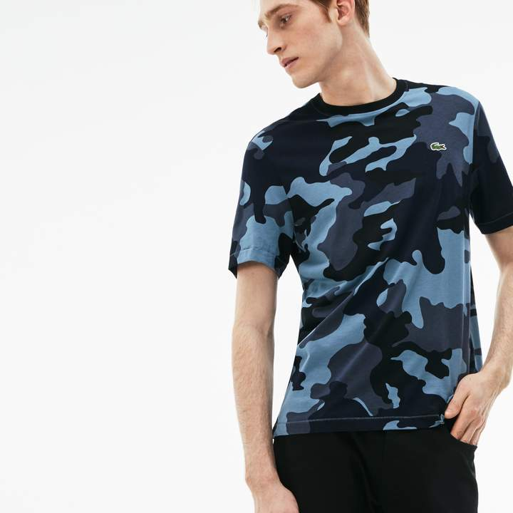 ee1a2432da Lacoste Men's LIVE Crew Neck Camouflage T-Shirt | Products in 2019 ...