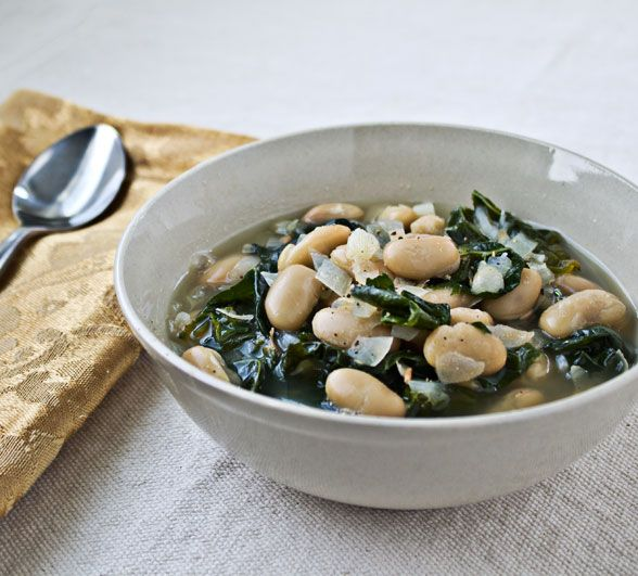 White Bean and Kale Soup by Culinary Hill