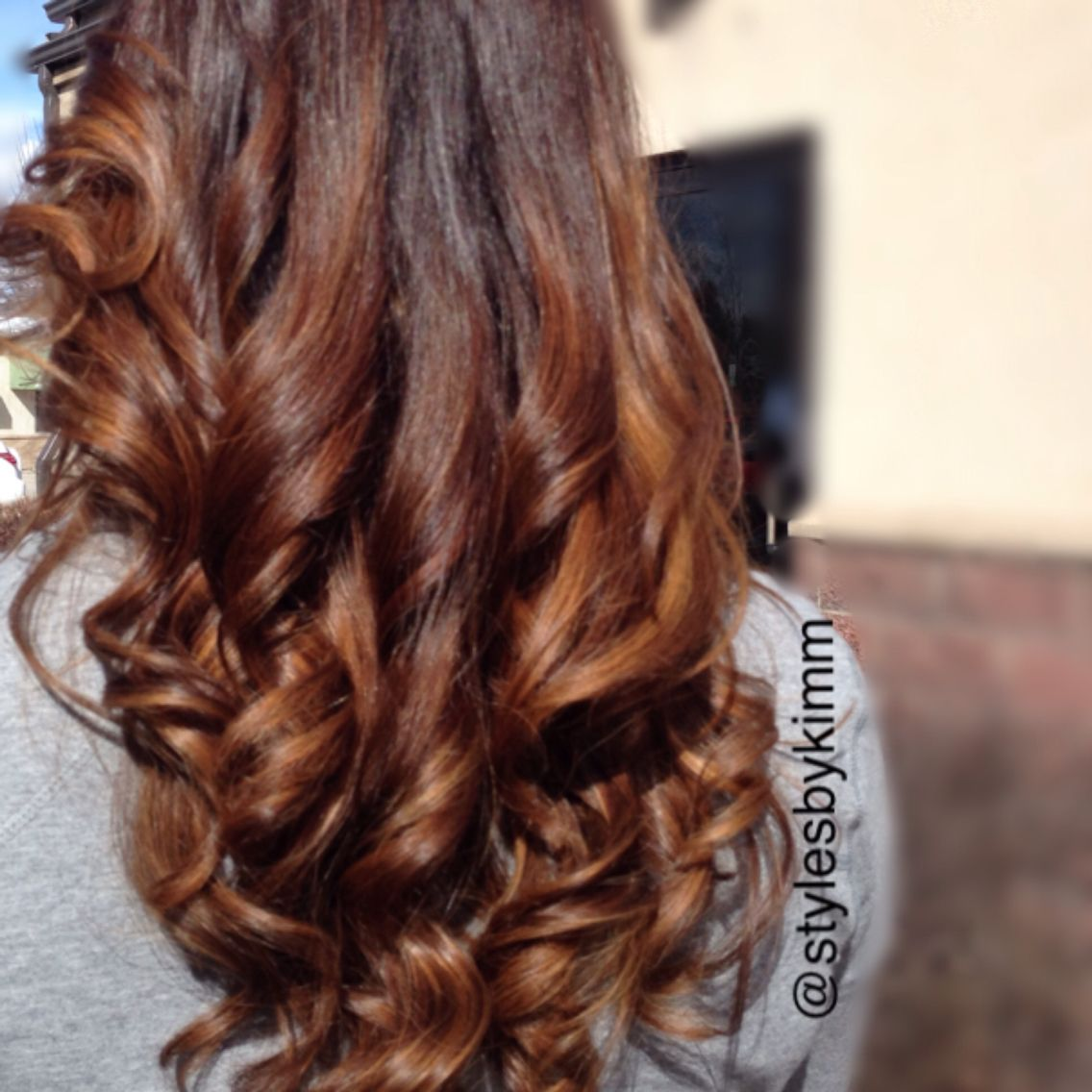 Redken Color, Balayage, Ombre, Chocolate Cherry Carmel hair | Kim ...