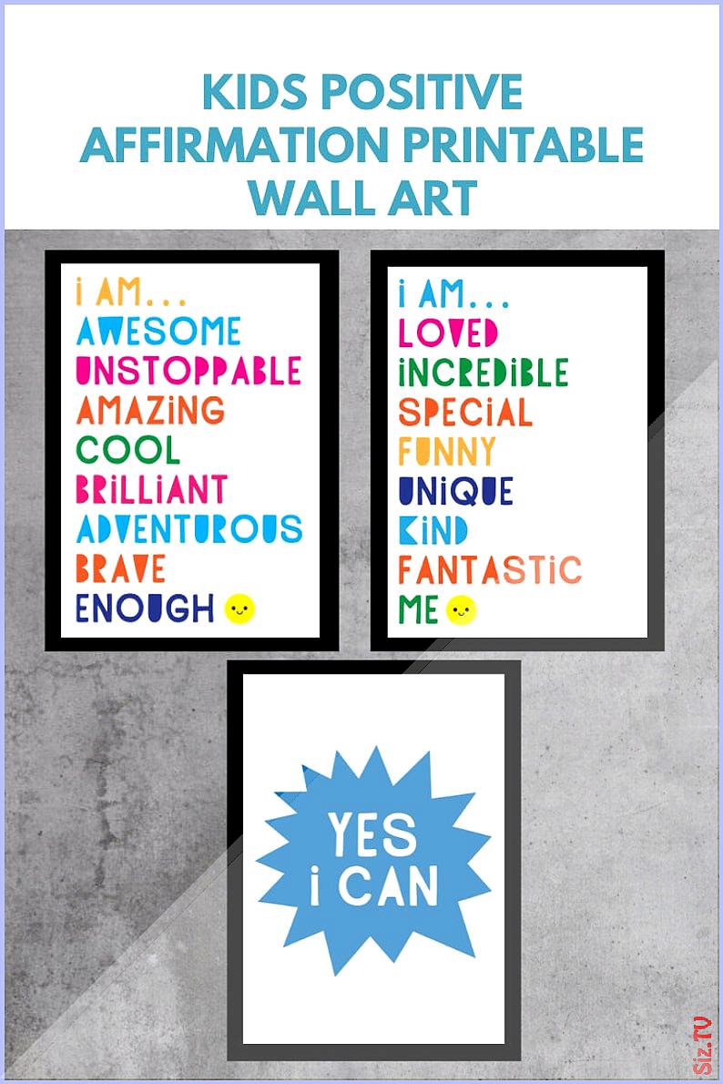 Set of 3 motivational word art prints kids positive affirmation posters positivity classroom decor