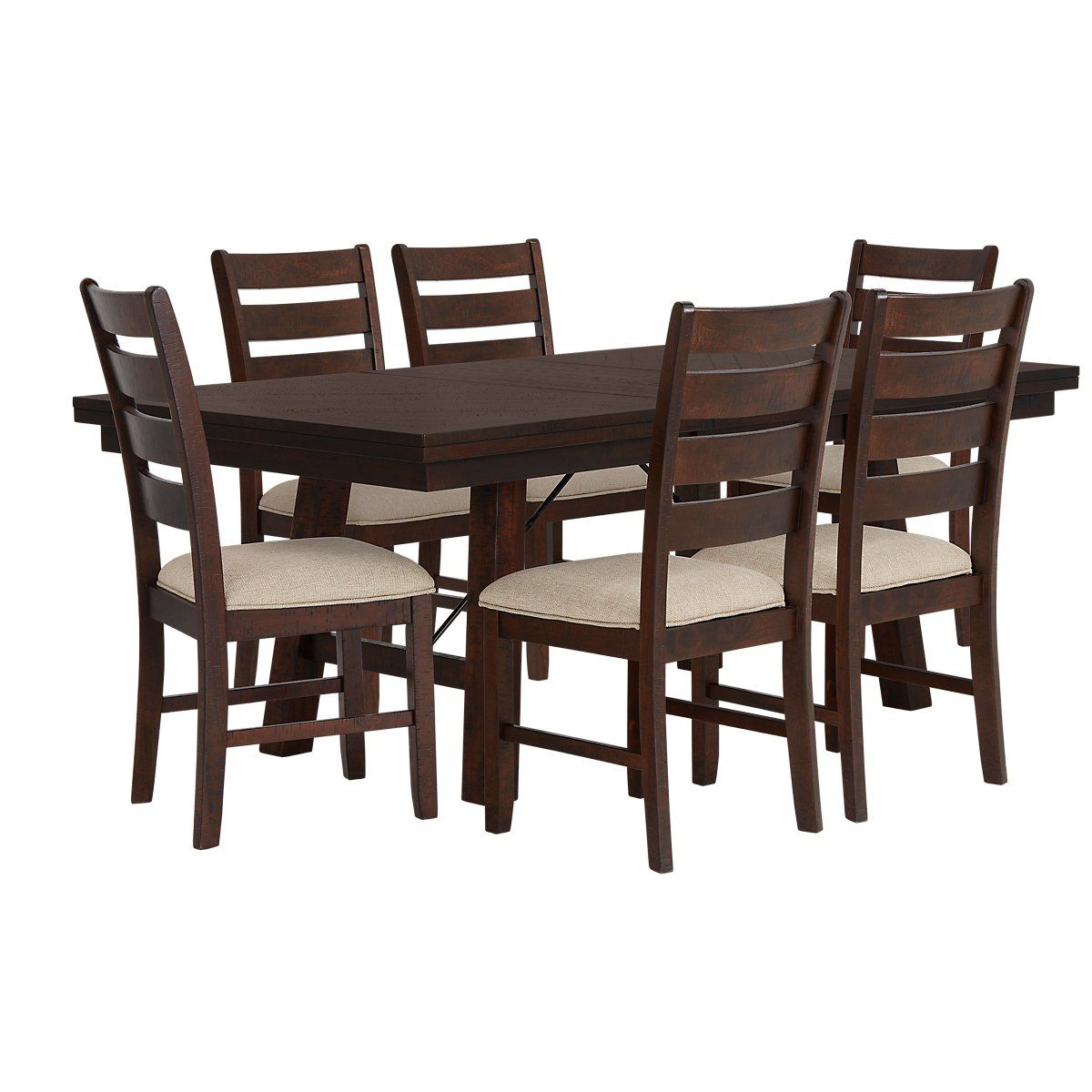Jax Dark Tone Rectangular Table u0026 4