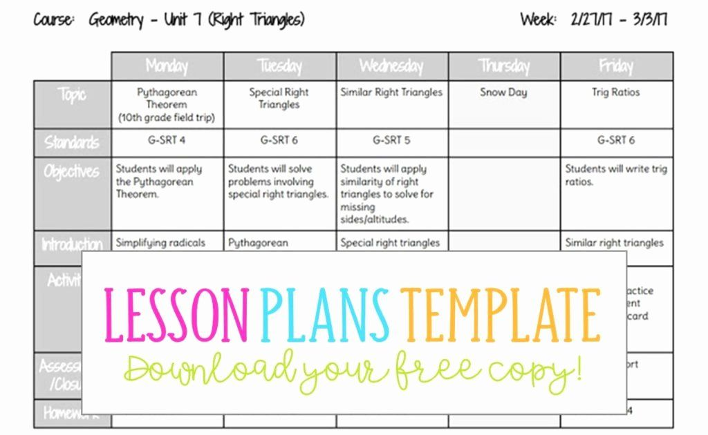 30 Weekly Lesson Plan Template Doc In 2020 Lesson Plans