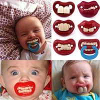 Baby Dummy Pacifier Soother Funny Novelty Cute Baby Gift NEW 8C