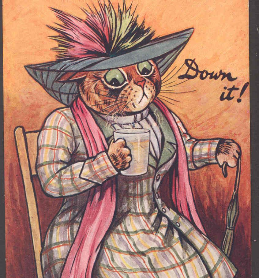"""Down it !"" 