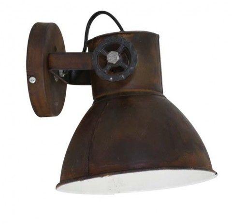 wandlampe vintage wandleuchte industrie rost in 2019 wandleuchte industriedesign pinterest. Black Bedroom Furniture Sets. Home Design Ideas