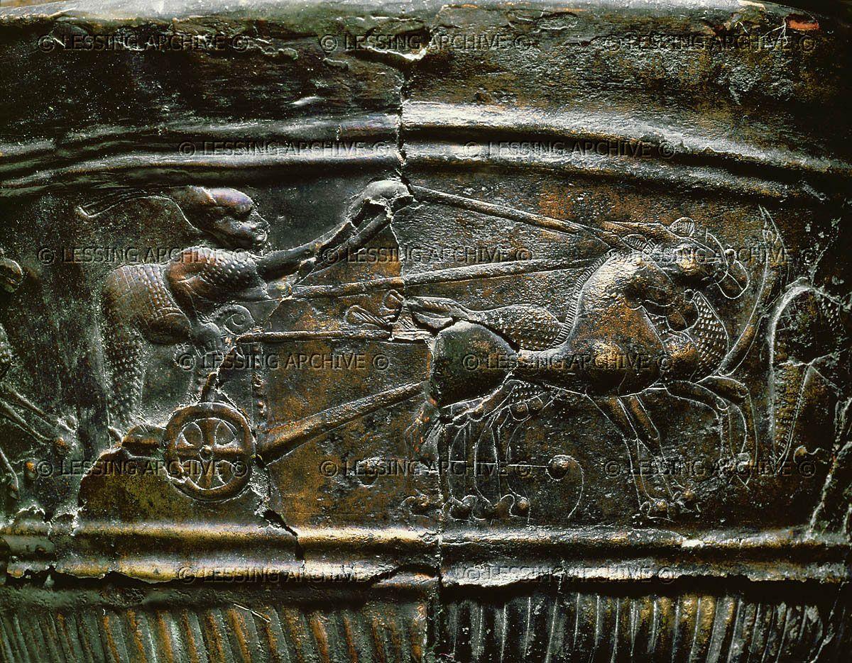 Lessingimages.com - Chariot race. Detail of an embossed   Celtic culture,  Hallstatt, Celtic art