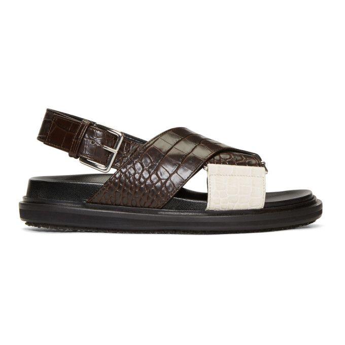 Dr. Martens Black & Brown Fussbett Sandals