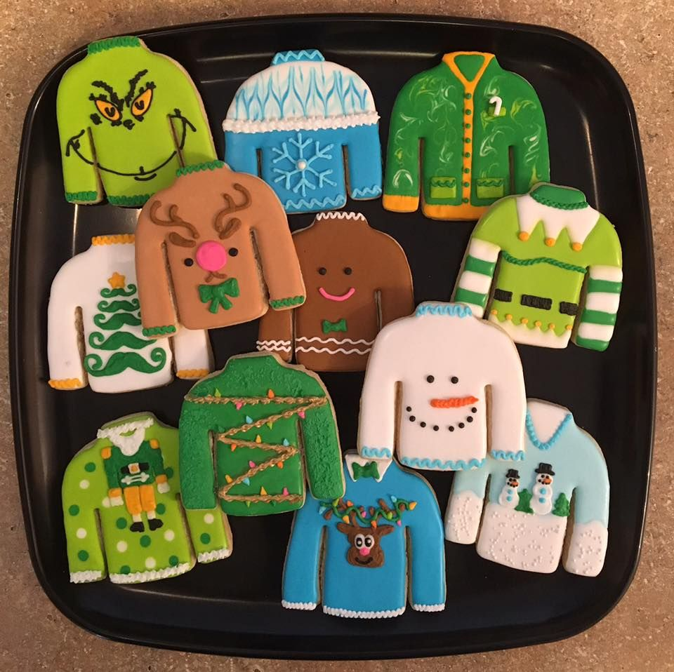 Ugly Sweater Cookies By Busy Bee Cakery Decorated Cookies For