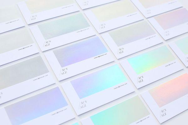 Photographers stunning iridescent business card changes color photographers stunning iridescent business card changes color constantly designtaxi colourmoves