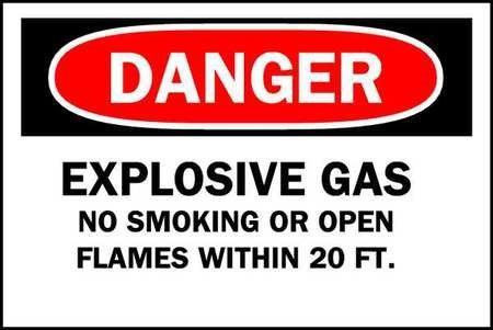 Brady 84379 Chemical Hazardous Materials Sign Black Sign Materials Gas Signs