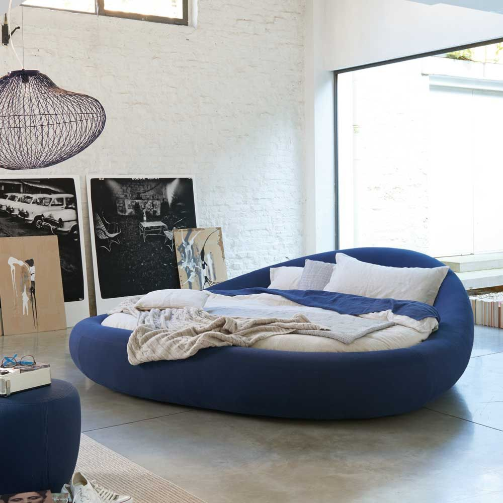 rundbett pebble baumwollbezug dunkelblau betten schlafsofas pinterest bett. Black Bedroom Furniture Sets. Home Design Ideas