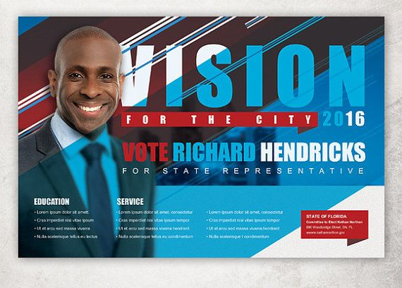 Vision Political Flyer Template By Loswl On Etsy  Political Flyer