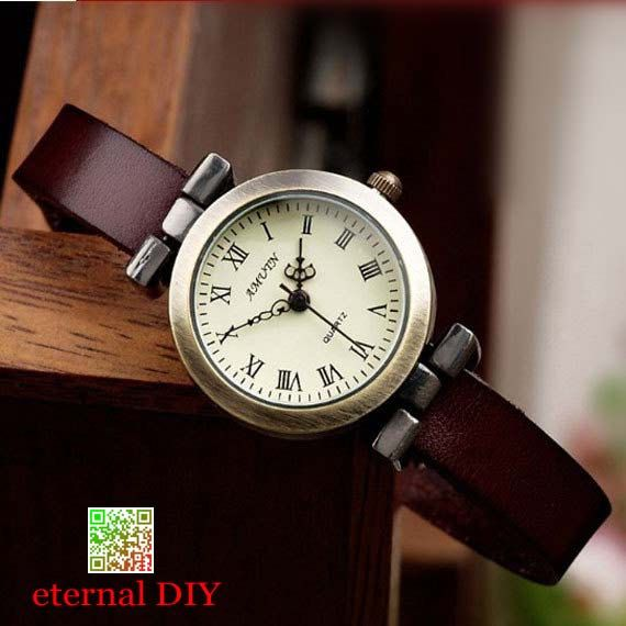 Vintage Style Leather Watch Roman times watches men by eternalDIY ... 3704c59595