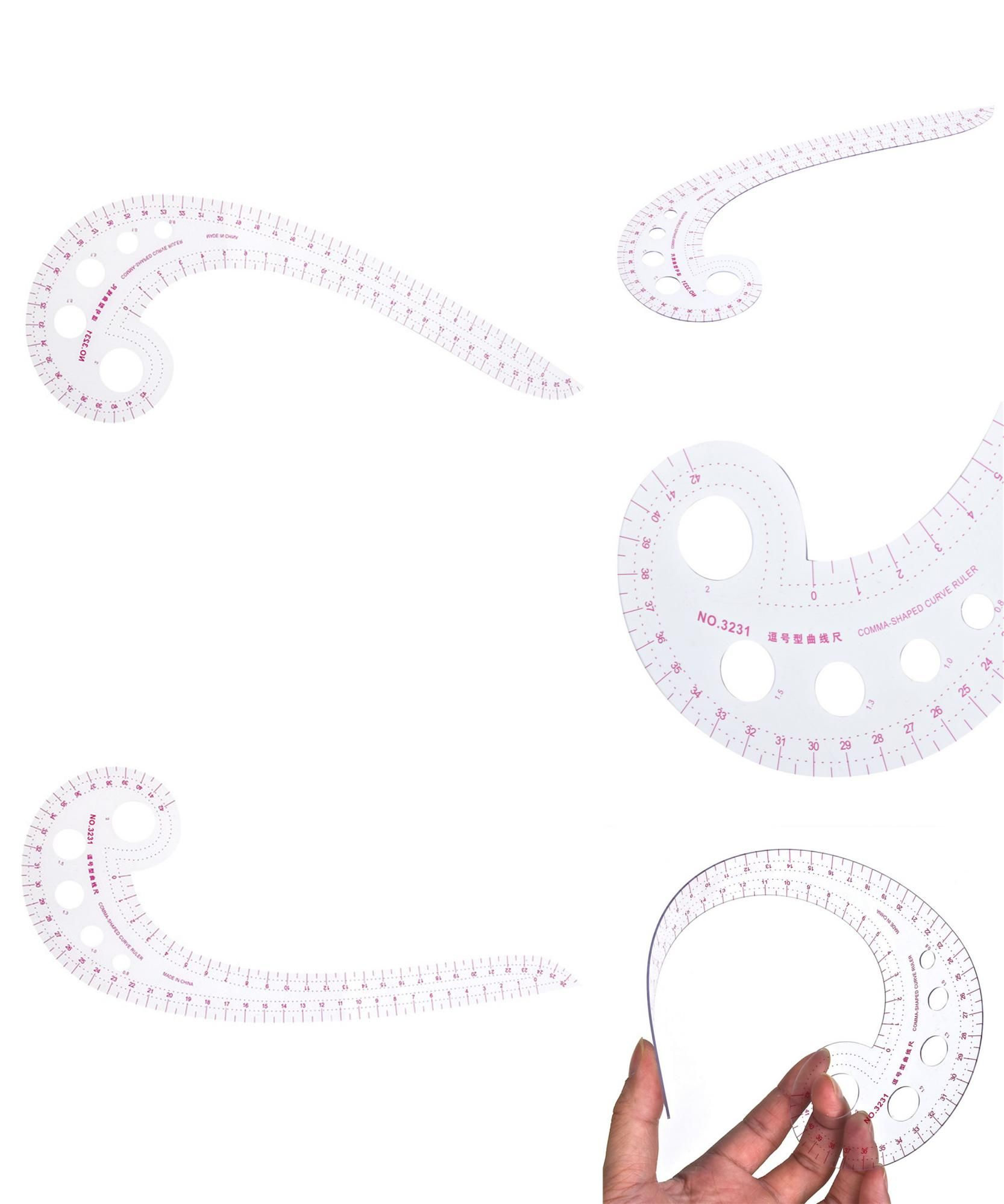 visit to buy transparent comma shaped designers curve ruler for dressmaking tailor support tools and easy sewing pattern ruler advertisement [ 1666 x 1998 Pixel ]