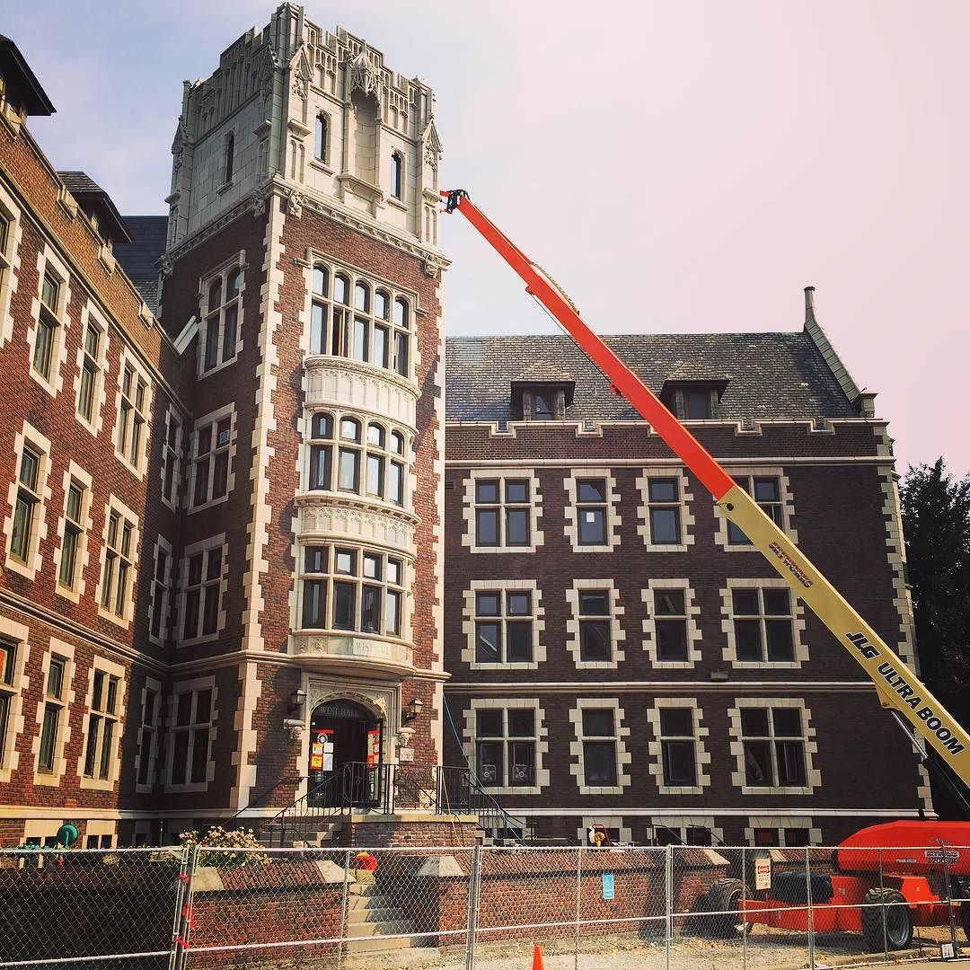 Construction on West Hall at #CCAC #Allegheny Campus is coming right along! #construction #college #campus #pittsburgh