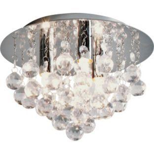 Bathroom Light Fixtures Argos buy living joy flush droplets ceiling light - clear at argos.co.uk