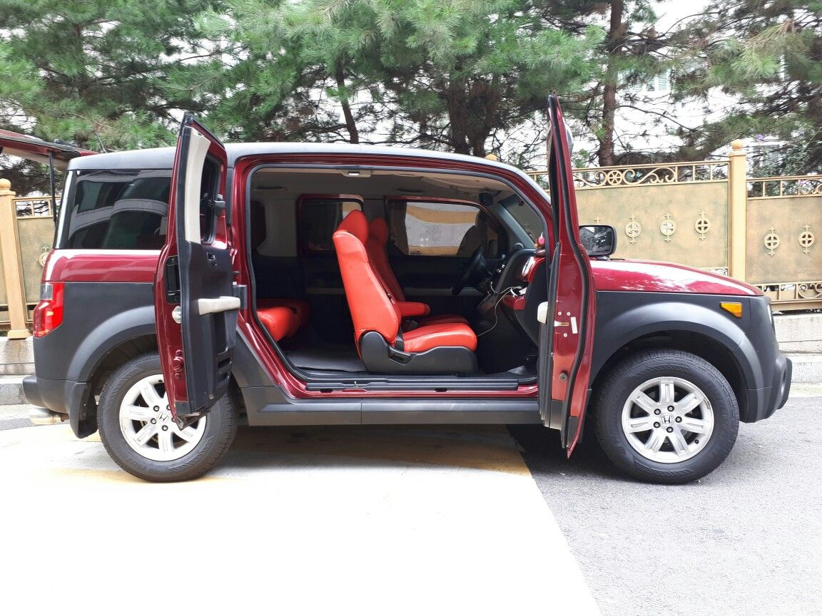 My E Has New Red Leather Seats Honda Element