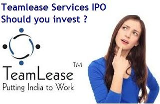 Teamlease Services Ipo Should You Invest In Such Low Margin