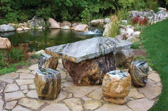 Captivating Stone Furniture