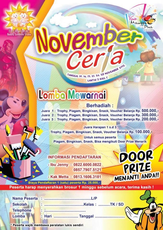 Lomba Mewarnai 1000 Anak Di Mangga Dua Square Jakarta Kontes