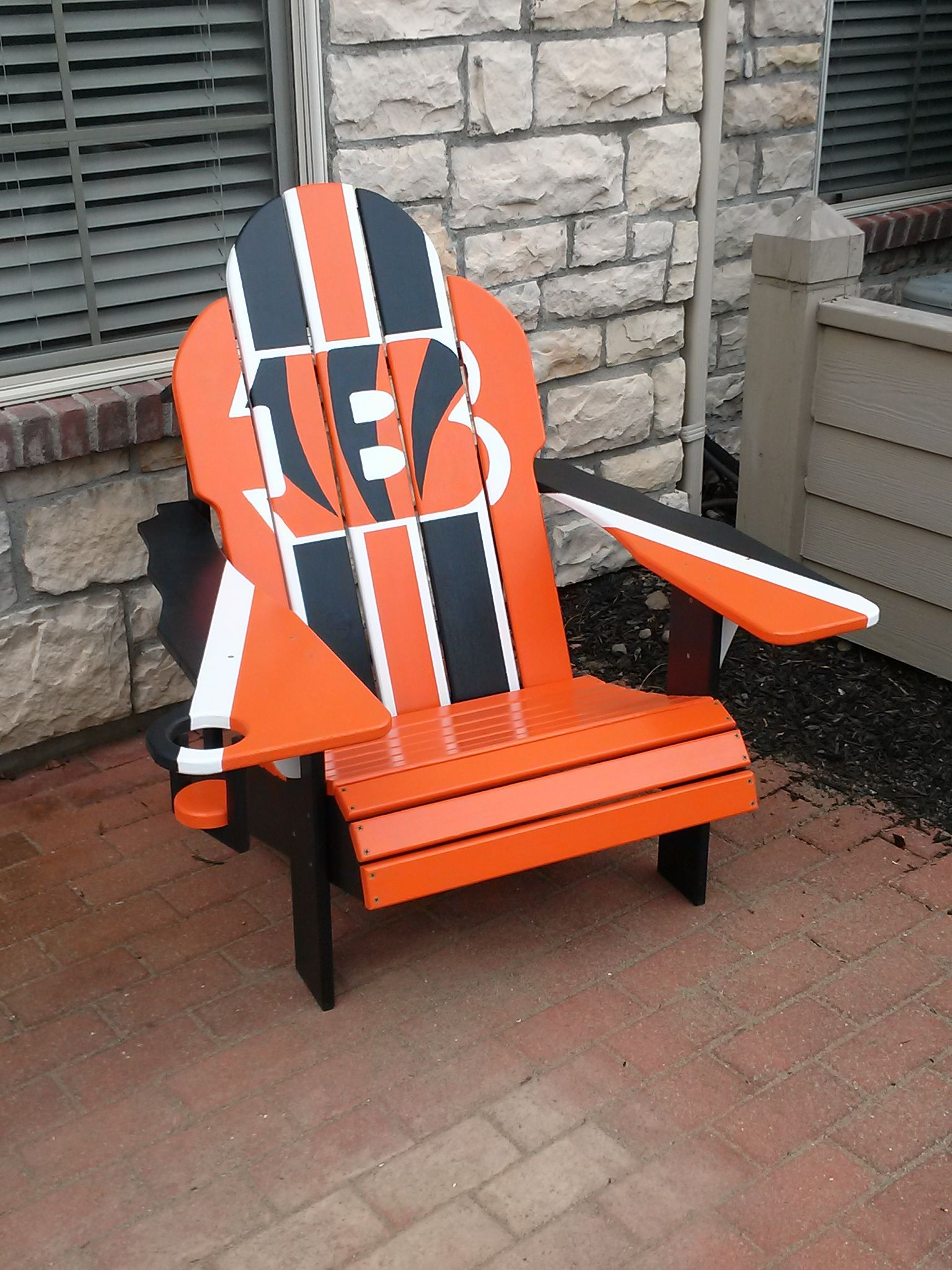 Behind the chair ecards -  Cincinnatibengals Adirondack Chair