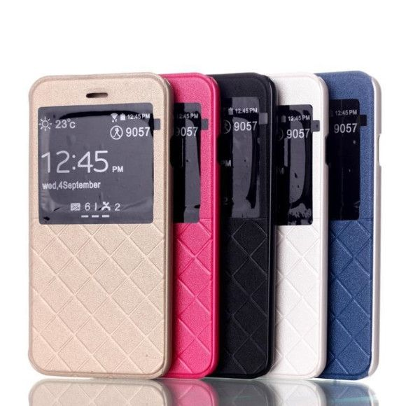 $17.99 - iPhone 6 / 6 Plus Flip Case - Check Patterned S-View Leather Standable - Nplustwo.com #iPhone6 #iPhone6Plus #Cases #iPhonecases #iPhone6cases #iPhone6Pluscases #flipcases #bumpercases #Hardshellcases #Softshellcases #iPhone6Accessories #iPhone6PlusAccessories #iPhone6covers #iPhone6Pluscovers #iPhone6screenprotectors #screenprotectors #iPhone6case #iPhone6Pluscase #Bendgate #Hairgate
