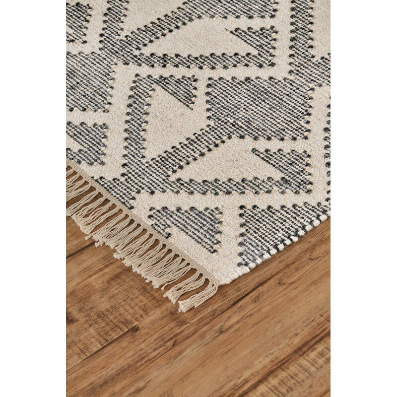 Haught Handwoven Flatweave Wool/Cotton Cream Area
