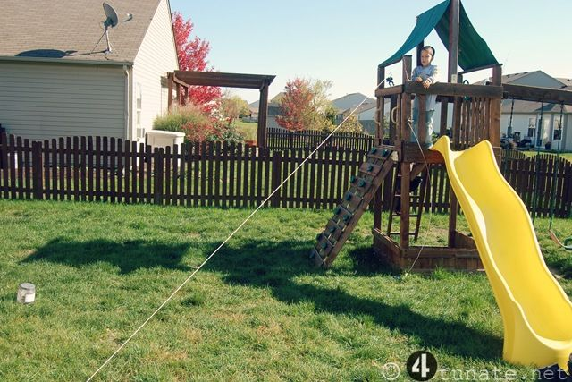 images about how to make a zip line on, Backyard Ideas