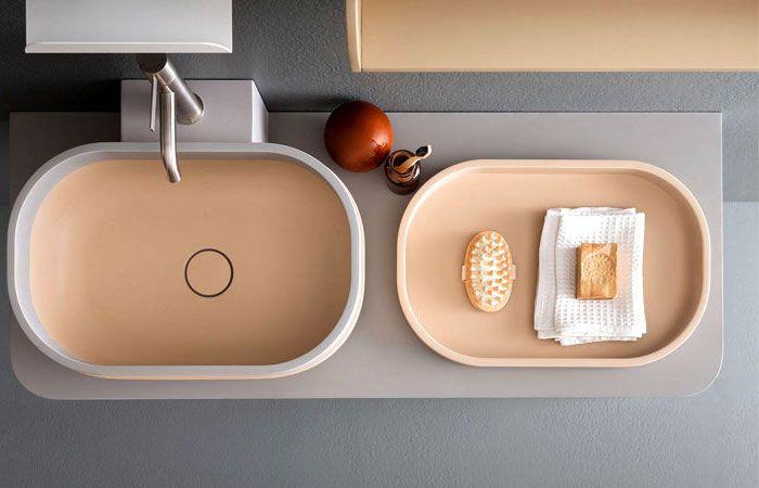 Moderne Badezimmer Badezimmermobel Aus Holz Waschbecken In Grau