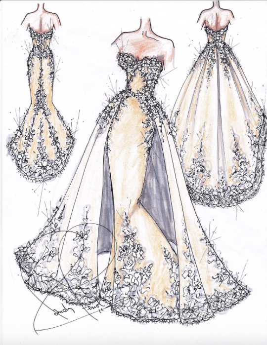 Wedding Dress Designer Hayley Paige Is Getting Her Own Tv Series Dress Design Sketches Wedding Dress Sketches Dress Sketches