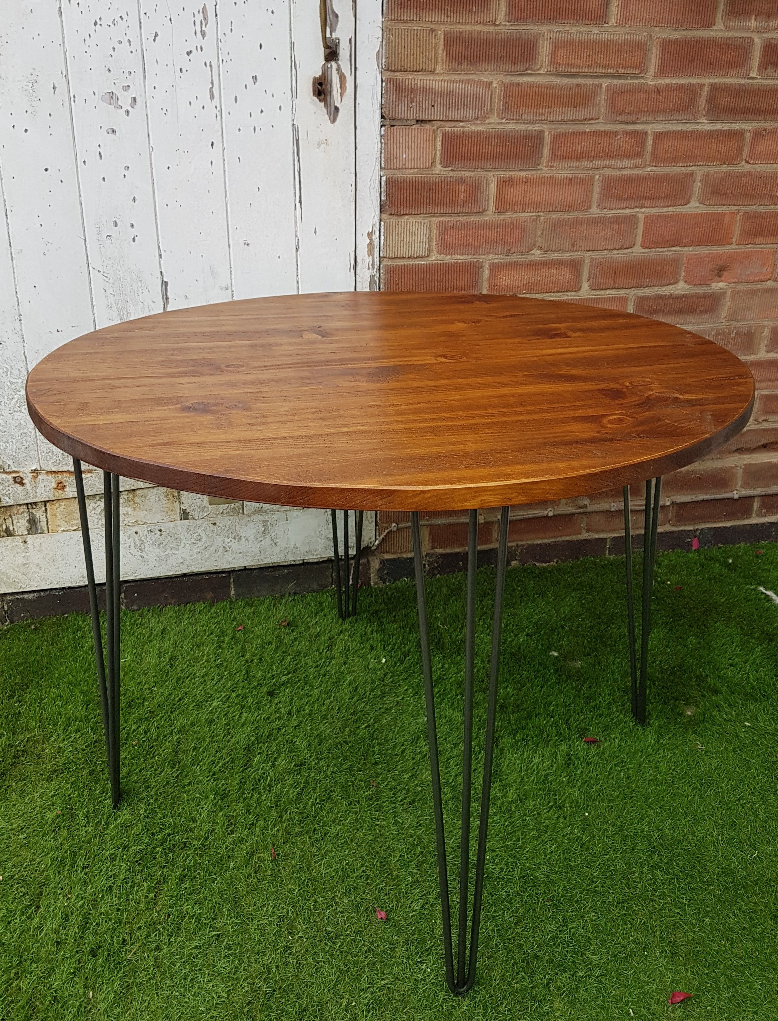 Coffee End Tables Rustic Industrial Wooden Low Round Coffee