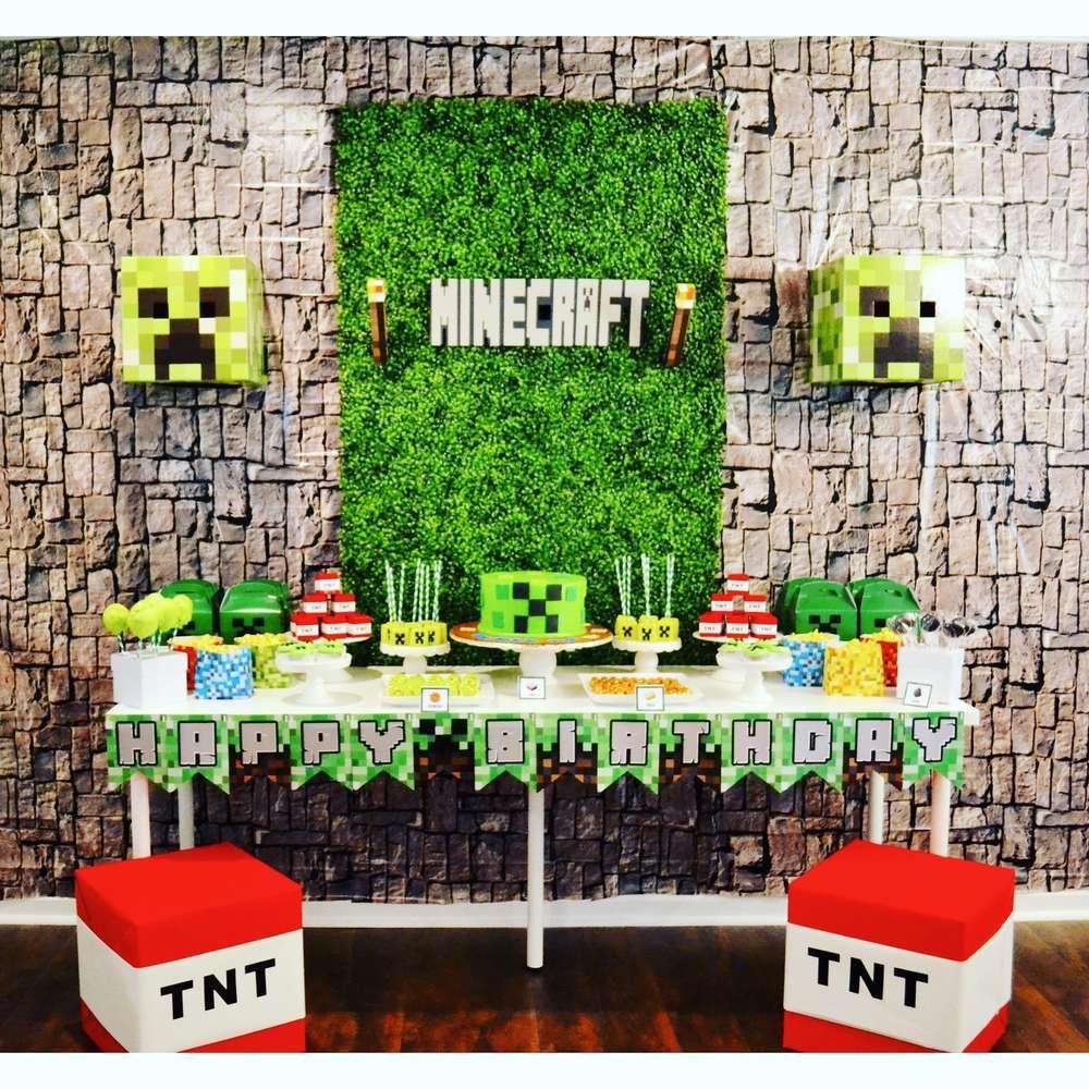 Minecraft birthday party ideas photo 1 of 3 minecraft