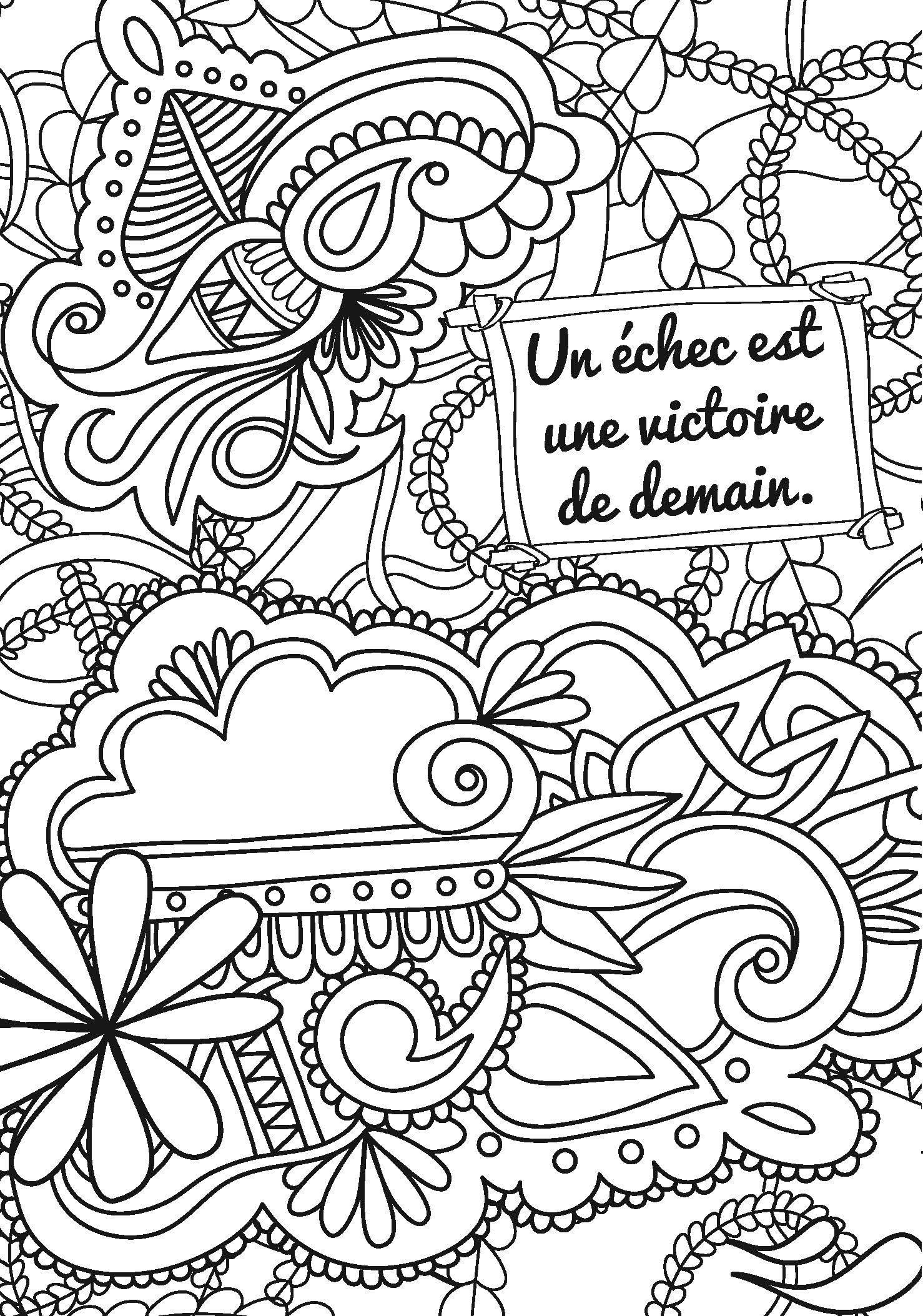 Coloriage Anti Stress Cest Quoi.Coloriage Anti Stress Message